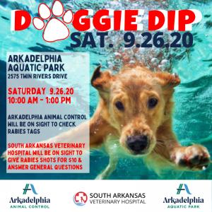 DOGGIE DIP @ Arkadelphia Aquatic Park