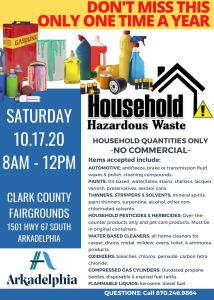 HOUSEHOLD HAZARDOUS WASTE ANUAL COLLECTION DAY @ CLARK COUNTY FAIRGROUNDS